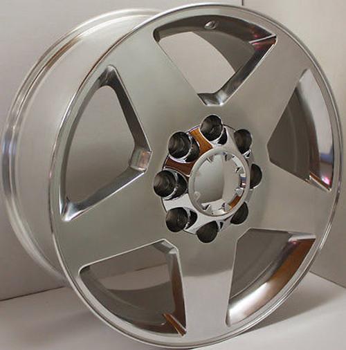 "Polished 20"" 8 Lug 8-180 Wheels for 2011-2018 GMC 2500 3500 - New Set of 4"