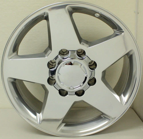"""Polished 20"""" 8 Lug 8-165 Wheels for 2001-2010 Chevy 2500 3500 - New Set of 4"""