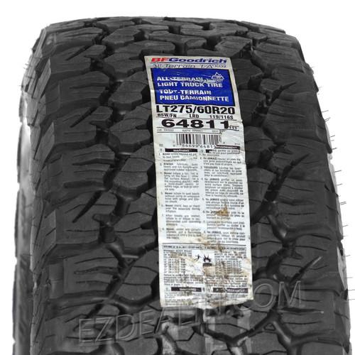 "Gloss Black 20"" Snowflake Wheels with BFG KO2 A/T Tires for Chevy Silverado, Tahoe, Suburban - New Set of 4"