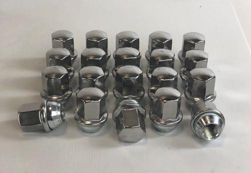 Set of 20 Dodge Ram 1500 Factory OEM Takeoff 14mm X 1.5mm Polished Lug Nuts