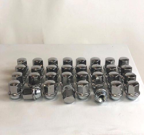 Set of 32 Dodge Ram 2500 3500 Factory OEM Takeoff 14mm X 1.5 Polished Lug Nuts