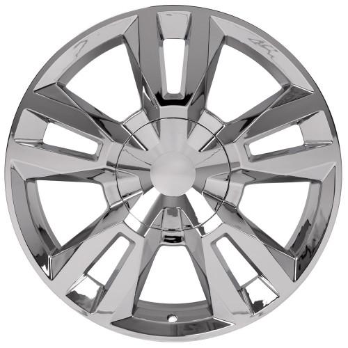 "Chrome 22"" RST Style Split Spoke Wheels for Chevy Silverado, Tahoe, Suburban - New Set of 4"
