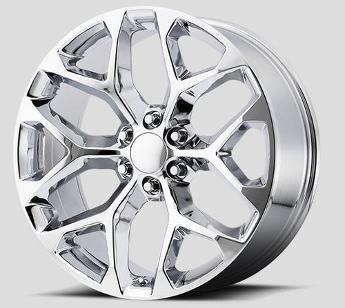 "Chrome 24"" Snowflake Wheels for GMC and Chevy 1500 Trucks and SUVs"