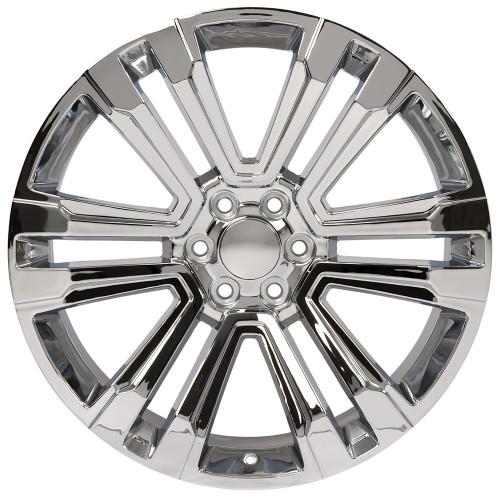 "Chrome 24"" Denali Style Split Spoke Wheels for GMC and Chevy 1500 Trucks and SUVs"