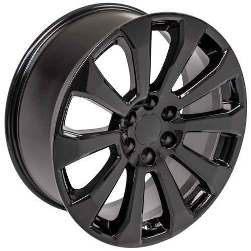 "Satin Black 22"" High Country Style Ten Spoke Wheels for Chevy Silverado, Tahoe, Suburban"