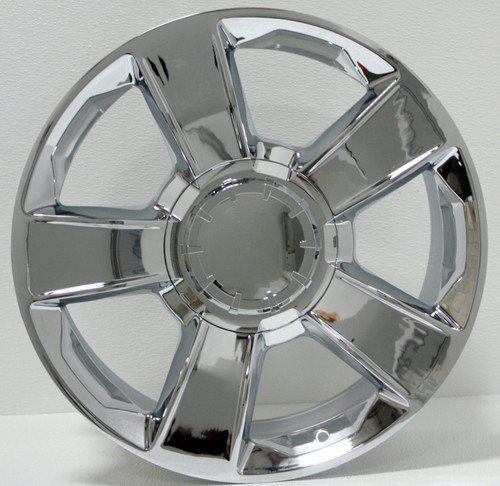 "Chrome 20"" Five Spoke Big Cap Wheels for GMC Sierra, Yukon, Denali - New Set of 4"