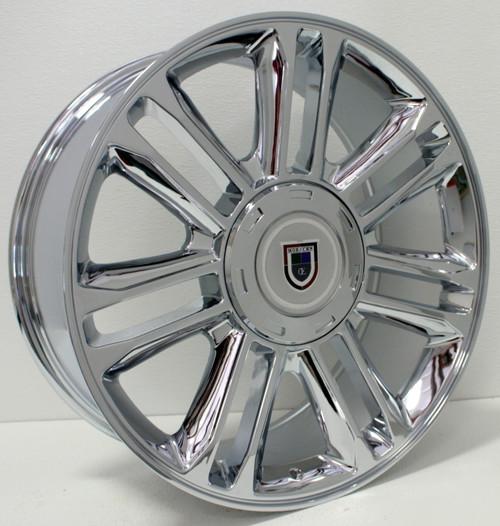 """Chrome 22"""" Escalade Split Spoke Replica Wheels for Cadillac Escalade"""