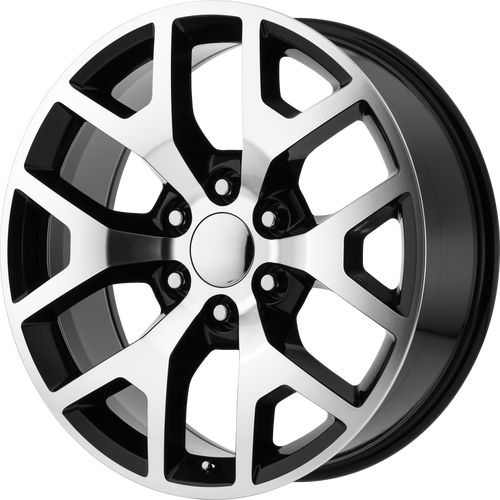 """Black and Machine 24"""" Honeycomb Wheels for GMC or Chevy 1500 Trucks and SUVs"""