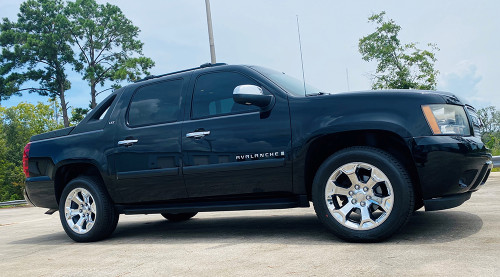 """Set of Four New Takeoff 20"""" Chrome Wheels With Bridgestone Dueler Alenza 275/55R20 Tires Fits GM Trucks And SUV's"""