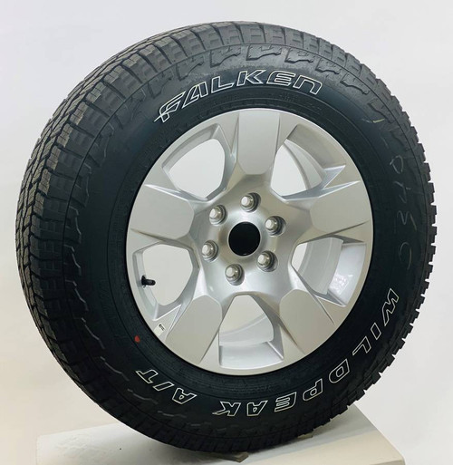 """Set of Four New Takeoff 18"""" OEM Gray Wheels With Falken Wildpeak AT 275/65R18 Tires Fits GM Trucks And SUV's"""