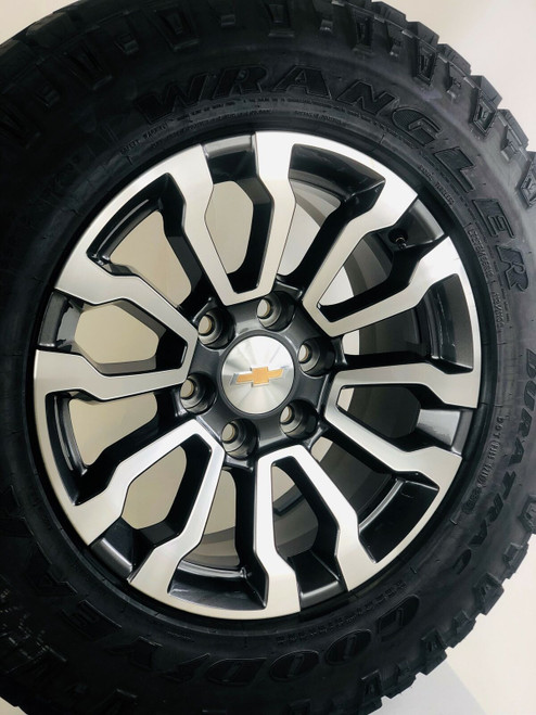 "New Takeoff 2020 Chevy Silverado 18"" Wheels Goodyear Wrangler Duratrac AT Tires"