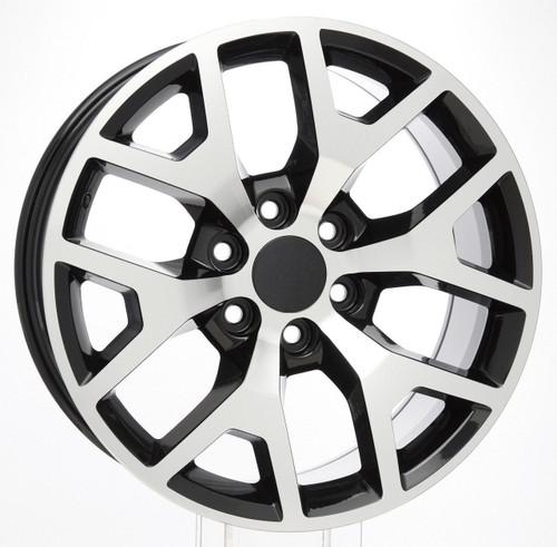 "Black and Machine 20"" Honeycomb Wheels for 2019-newer Dodge Ram 6 Lug 1500"