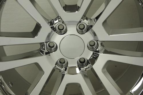 "Chrome 22"" Split Spoke Wheels with Bridgestone Tires for 2019 and newer Dodge Ram 6 Lug 1500 Truck"