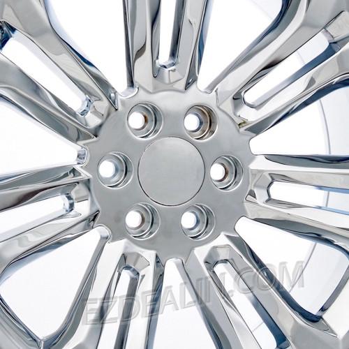 "Chrome 22"" New Style Split Spoke Wheels with Bridgestone Tires for 2019 and newer Dodge Ram 6 Lug 1500 Trucks"