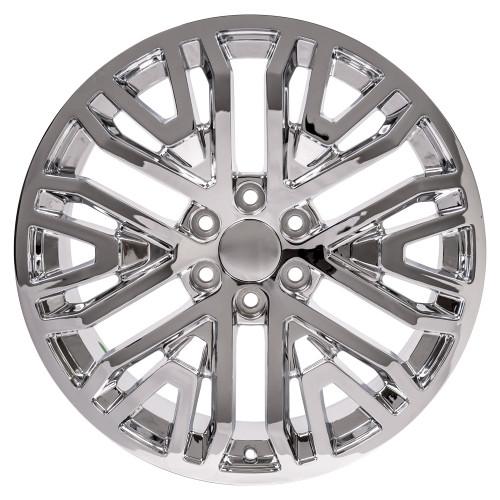 "Chrome 22"" Six Split Spoke Wheels for GMC Sierra, Yukon, Denali"