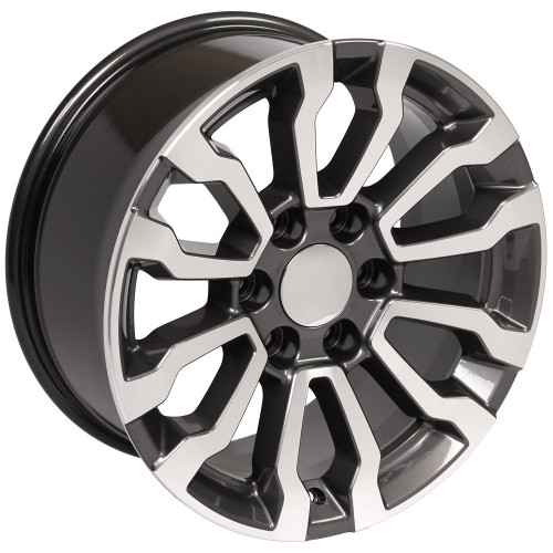 "Gunmetal and Machine 18"" AT4 Style Wheels for Chevy and GMC Trucks and SUVs"