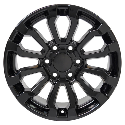 "Gloss Black 18"" AT4 Style Wheels for Chevy and GMC Trucks and SUVs"
