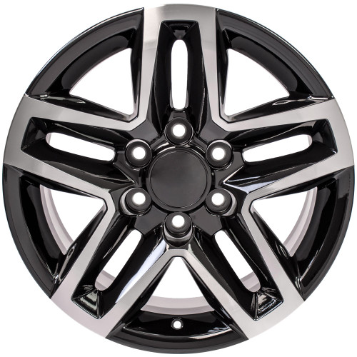 "Black and Machine 18"" Trail Boss Style Wheels for Chevy and GMC Trucks and SUVs"