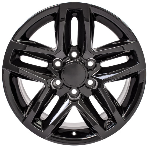 "Gloss Black 18"" Trail Boss Style Wheels for Chevy and GMC Trucks and SUVs"