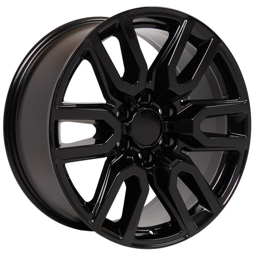 "Gloss Black 20"" AT4 Style Split Spoke Wheels for GMC Sierra, Yukon, Denali - New Set of 4"