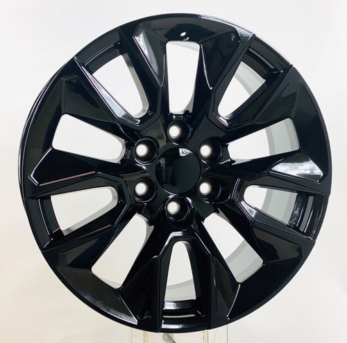 "Gloss Black 20"" RST Style Wheels for GMC Sierra, Yukon, Denali - New Set of 4"
