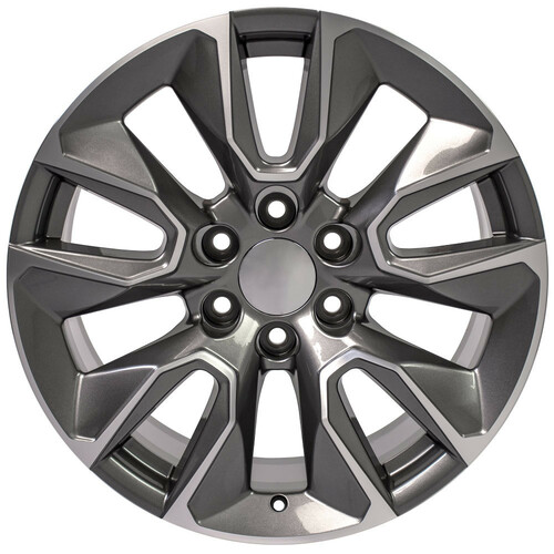 """Gunmetal and Machine 20"""" RST Style Wheels for Chevy Silverado, Tahoe, Suburban - New Set of 4"""