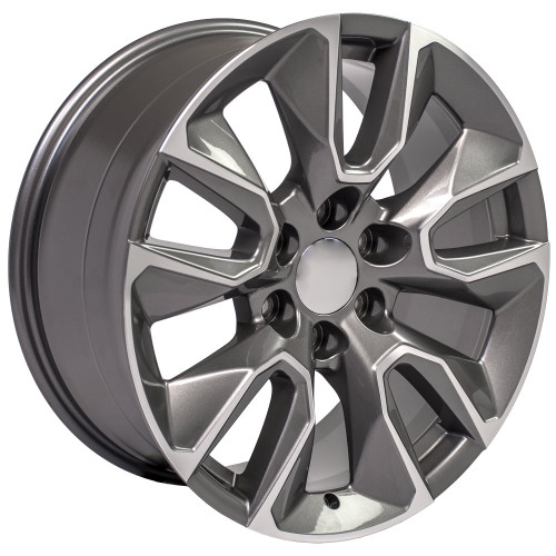 "Gunmetal and Machine 20"" RST Style Wheels for GMC Sierra, Yukon, Denali - New Set of 4"