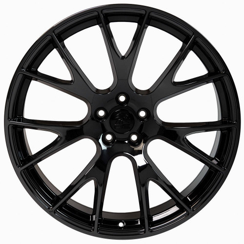 """Gloss Black 20"""" Dodge Hellcat Replica Wheels for Dodge Challenger and Charger - Set of 4"""