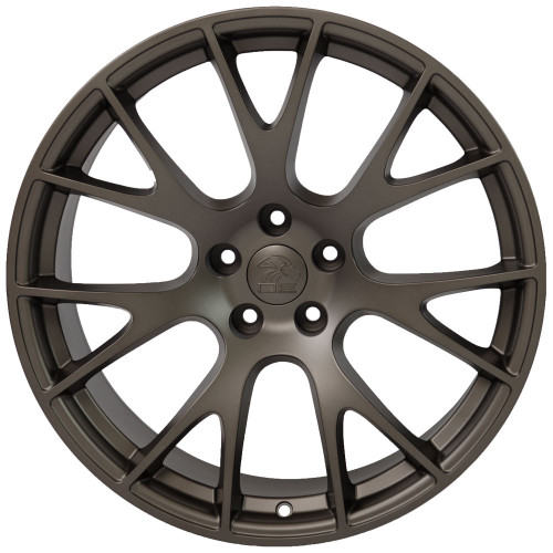 """Bronze 22"""" Dodge Hellcat Replica Wheels for Dodge Challenger and Charger - Set of 4"""