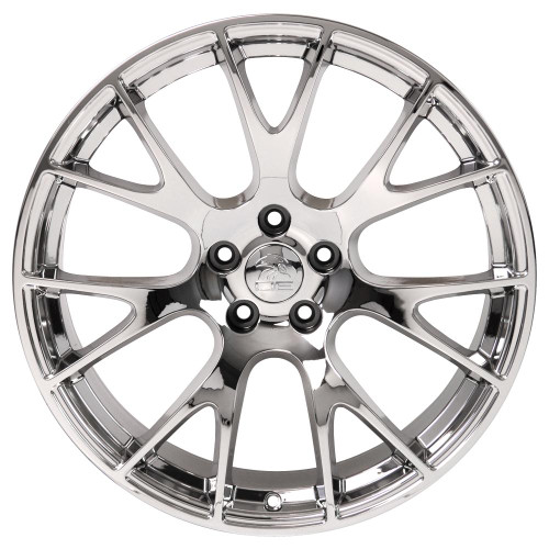 """Chrome 22"""" Dodge Hellcat Replica Wheels for Dodge Challenger and Charger - Set of 4"""