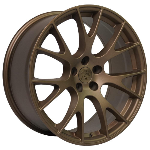 """Bronze 20"""" Dodge Hellcat Replica Wheels for Dodge Challenger and Charger - Set of 4"""