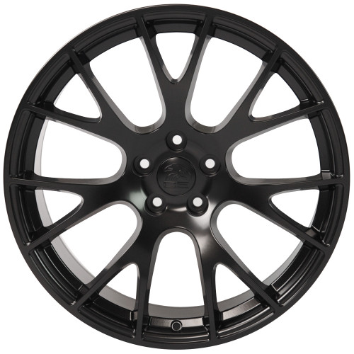 "Satin Black 20"" Dodge Hellcat Replica Wheels for Dodge Challenger and Charger - Set of 4"