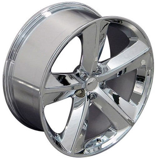 """Chrome 20"""" 5 Spoke SRT Replica Wheels for Dodge Charger and Challenger - New Set of 4"""