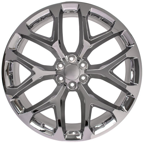 "Chrome 26"" Snowflake Wheels for GMC and Chevy 1500 Trucks and SUVs"