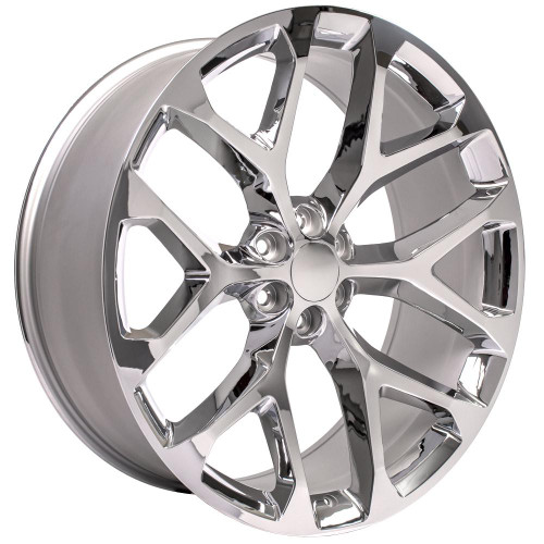 """Chrome 26"""" Snowflake Wheels for GMC and Chevy 1500 Trucks and SUVs"""