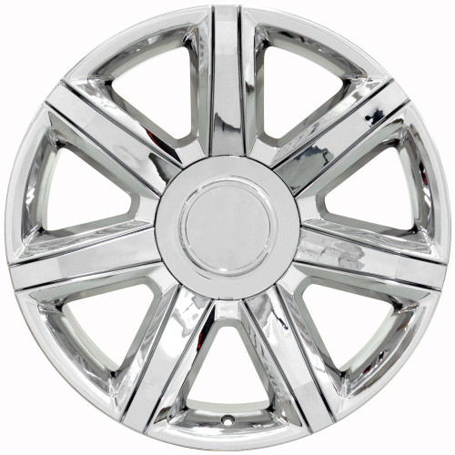 "Chrome 22"" With Chrome Insert Escalade Style Replica Wheels for Cadillac, GMC, Chevy"