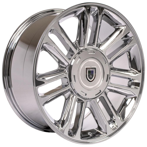 "Chrome 20"" Double Split Spoke Wheels for Chevy Silverado, Tahoe, Suburban - New Set of 4"