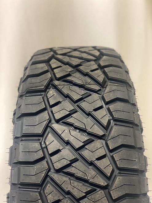 "Gloss Black 20"" Snowflake Wheels with Nitto Ridge Grappler Tires for GMC Sierra, Yukon, Denali - New Set of 4"