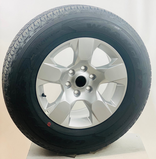 """Set of Four New Takeoff 18"""" OEM Gray Wheels With Goodyear Wrangler 275/65R18 Tires Fits GM Trucks And SUV's"""