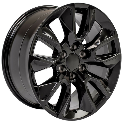 """Gloss Black 20"""" RST Style Wheels with Goodyear Tires for Chevy Silverado, Tahoe, Suburban - New Set of 4"""