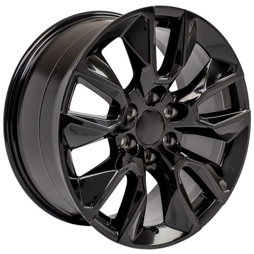 """Gloss Black 20"""" RST Style Wheels with Goodyear Tires for GMC Sierra, Yukon, Denali - New Set of 4"""