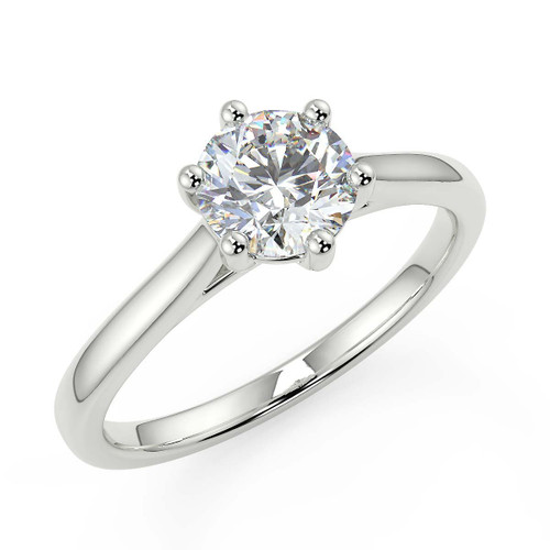 Engagement rings for her white gold diamond solitaire in choice of diamond sizes