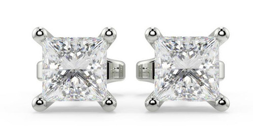 Diamond Earrings Uk - Princess Cut Earrings For Women White Gold