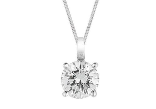 Diamond Solitaire Pendant White Gold Fg Vs/Si Quality (0.3 Carats)