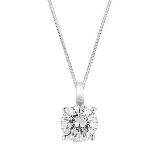 Diamond Solitaire Pendant White Gold Fg Vs/Si Quality (0.5 Carats)