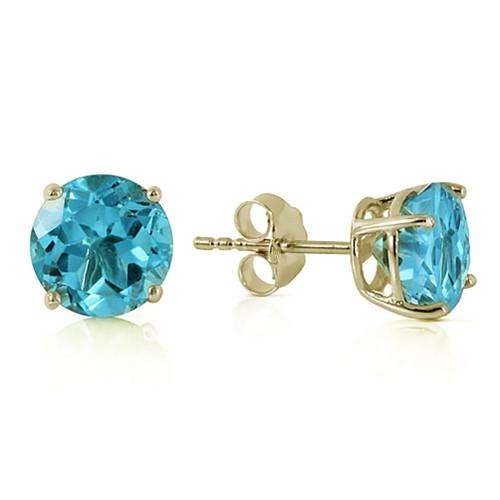 Blue Topaz Earrings Yellow Gold