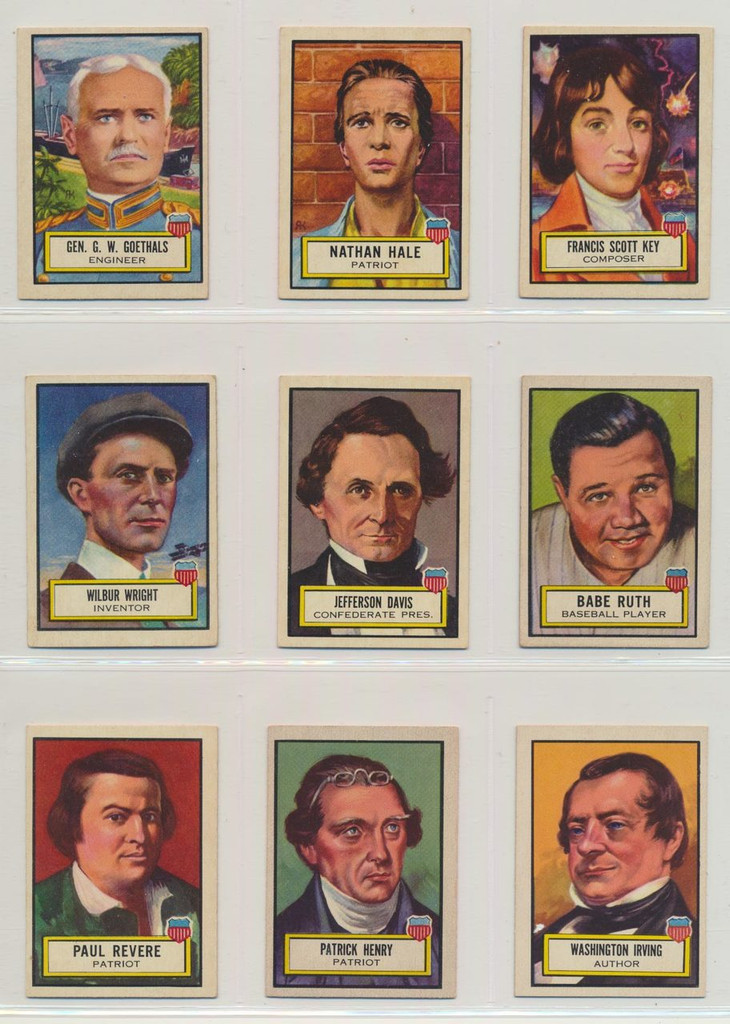 1952 Topps Look N See Set 135 W Red Magic Paper   #*