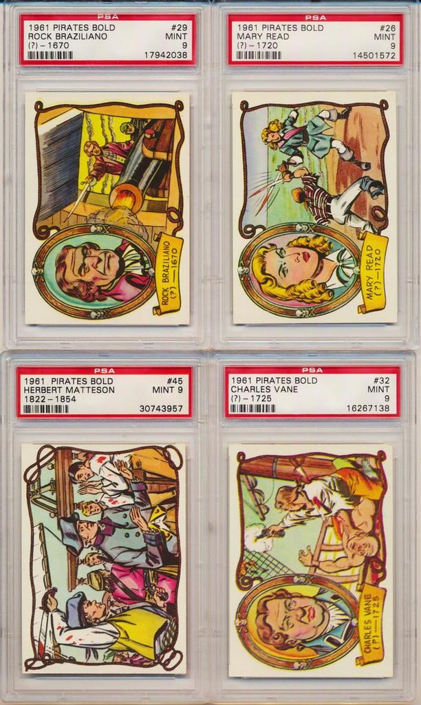 1961 Fleer Pirate Bold Set 66 PSA Graded GPA 8.20  #*
