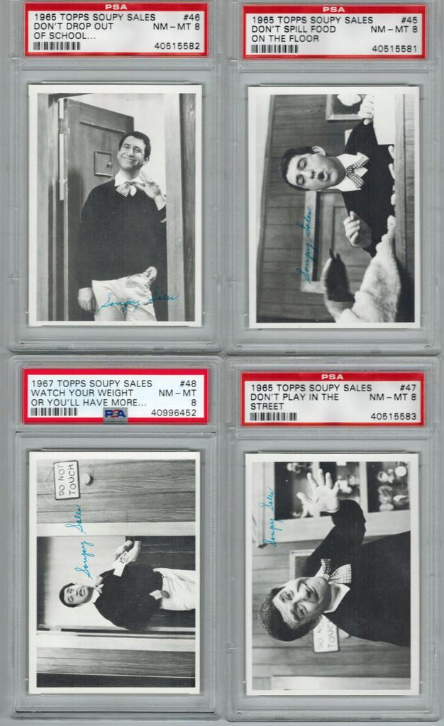 1965 Topps Soupy Sales PSA Graded Set 66  GPA  7.509 NM+  #*