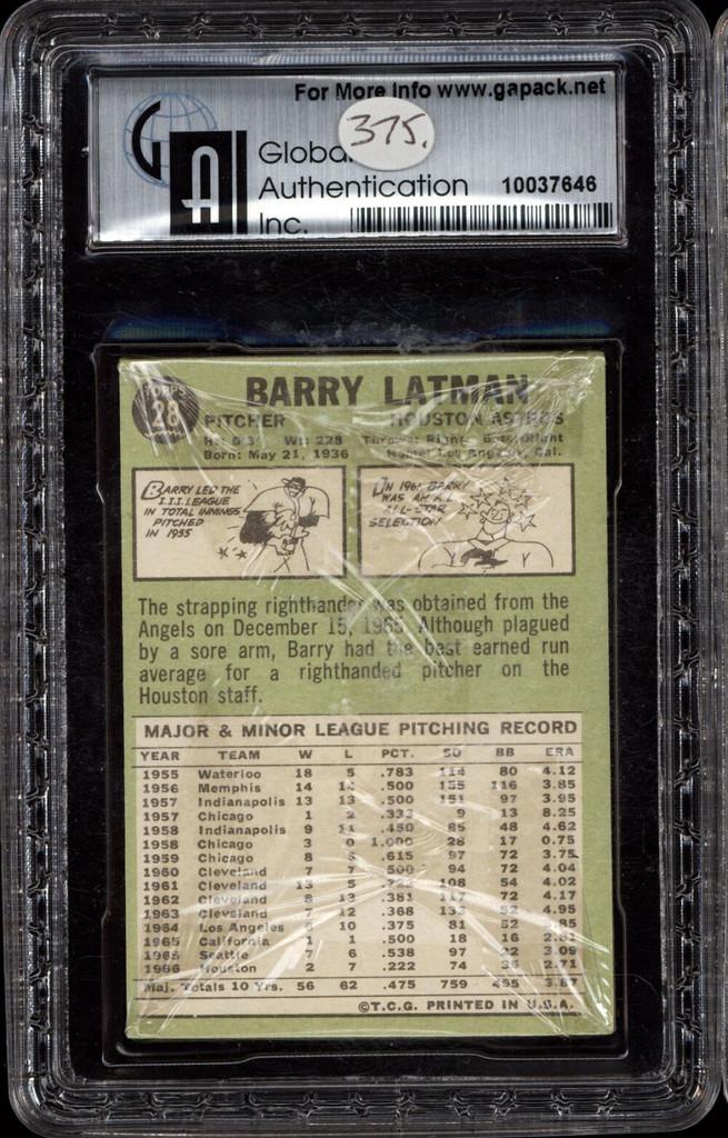 1967 Topps Baseball Unopened Cello Pack 1st Series GAI 9 Mint